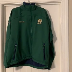 Men's Columbia Notre Dame full zip jacket